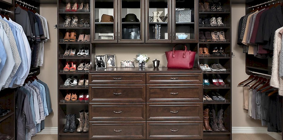 Chocolate Pear Custom Walk In Closet System